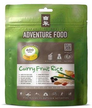 Adventure Food Curry Fruit Rice vegetarian Meal - 1 Person Serving-Tamworth Camping