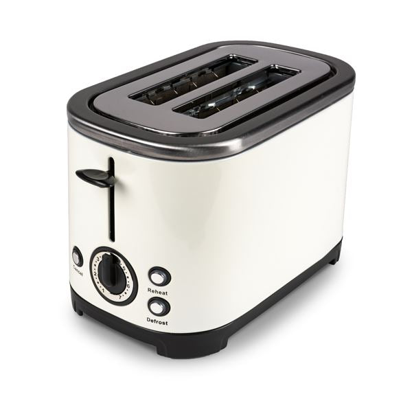 Kampa Deco Cream Stainless Steel 2 Slice Toaster - Low Wattage