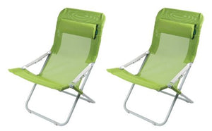2 x Kampa Sling Chair Adriatic Go Green-Tamworth Camping