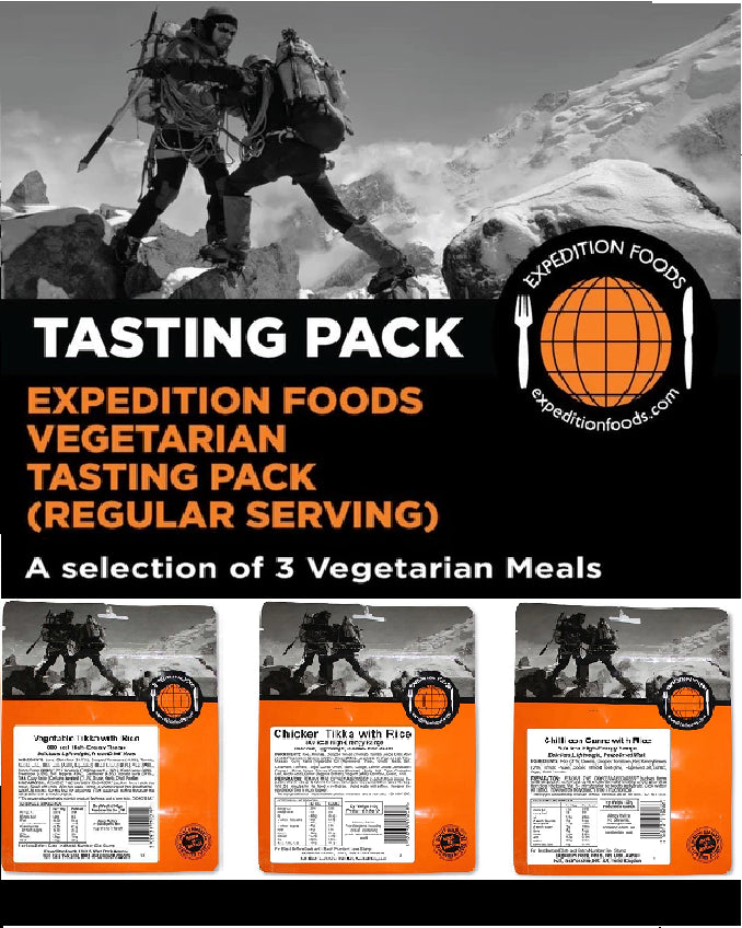 Expedition Foods 450kcal Vegetarian Regular - 3 Meal Tasting Pack
