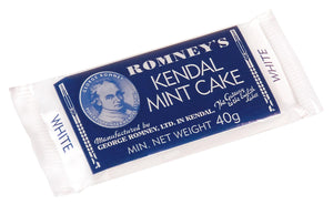 Romneys Kendal Mint Cake 50g SMALL - WHITE BAR-Tamworth Camping