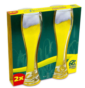 Brunner Wheat Beer Glass 2 Pack-Tamworth Camping