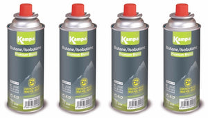 Kampa 225g Uni Resealable Gas Cartridge 4 Pack-Tamworth Camping