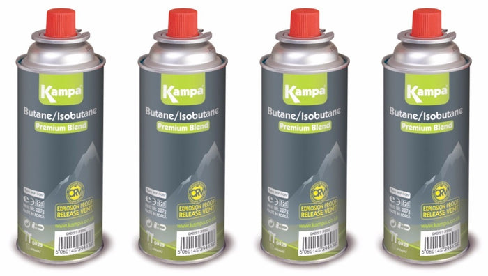 Kampa 225g Uni Resealable Gas Cartridge 4 Pack