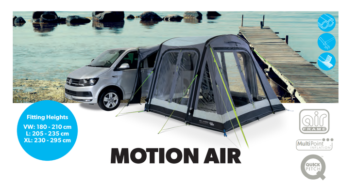 Kampa Dometic Motion AIR Driveaway Motorhome Awnings 2020