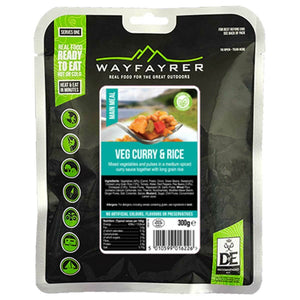 Wayfayrer Vegetable Curry & Rice Ready-to-Eat Camping Food-Tamworth Camping