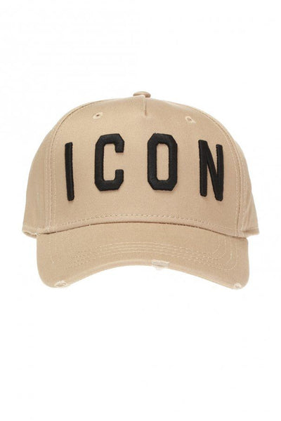 Dsquared2 ICON Logo Cap in Beige/Black