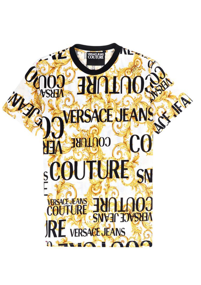 VERSACE JEANS COUTURE PRINT SPROUS BAROQUE WHITE
