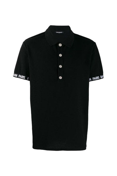 BALMAIN PARIS POLO SHIRT-BLACK