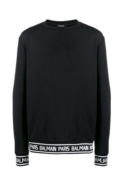 BALMAIN PARIS SWEATER-BLACK