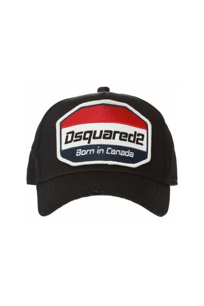 DSQUARED2 BORN IN CANADA CAP -BLACK