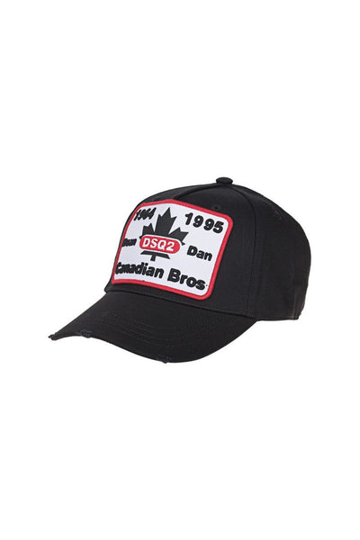 DSQUARED2 CANDIAN BROS CAP - BLACK-One Size