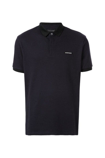 EMPORIO ARMANI NAVY POLO SHIRT