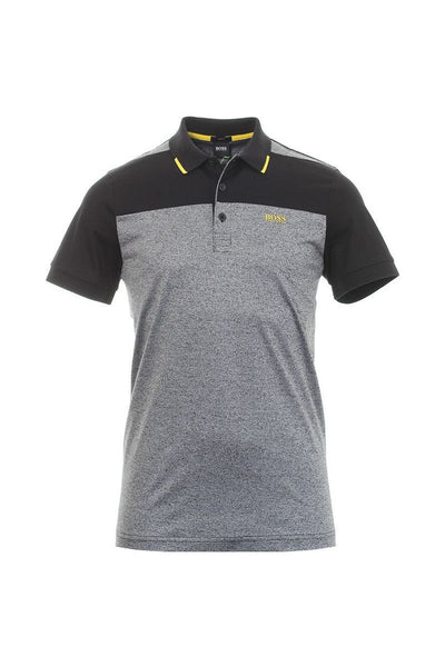 HUGO BOSS POLO SHIRT-GREY / BLACK / YELLOW