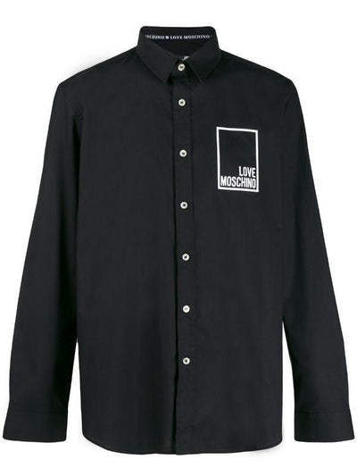 LOVE MOSCHINO LOGO SHIRT BLACK