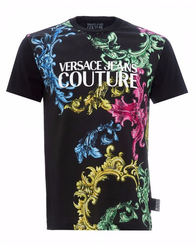 VERSACE JEANS COUTURE COLOUR PRINT-BLACK