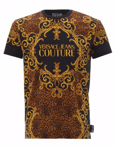 VERSACE JEANS COUTURE BLACK/GOLD BROWN PRINT