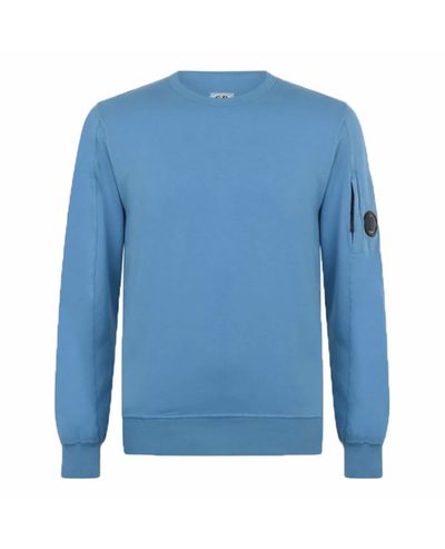 CP COMPANY CREW NECK SWEATER-BLUE