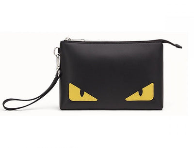 FENDI - POUCH BAG - BLACK