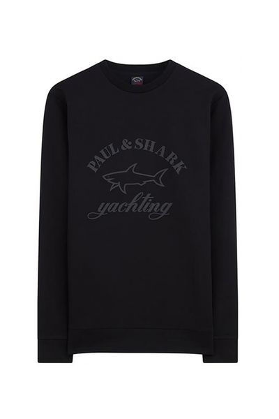 PAUL & SHARK SWEATER LARGE LOGO-BLACK