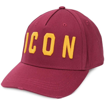 Dsquared2 ICON Logo Cap in Red/Yellow