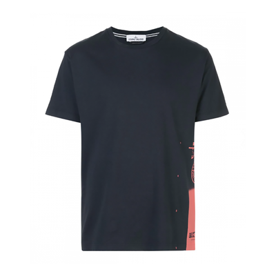 STONE ISLAND DRONE ONE T-SHIRT IN NAVY BLUE