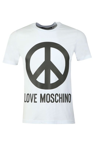 LOVE MOSCHINO PEACE LOGO WHITE AND BLACK