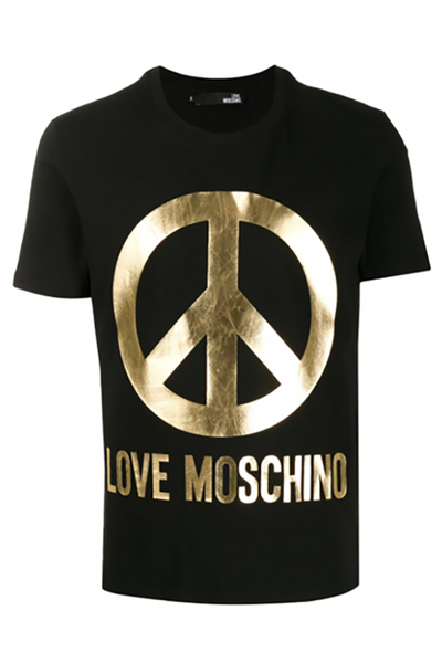LOVE MOSCHINO LOGO BLACK AND GOLD