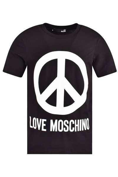LOVE MOSCHINO LOGO T-SHIRT BLACK