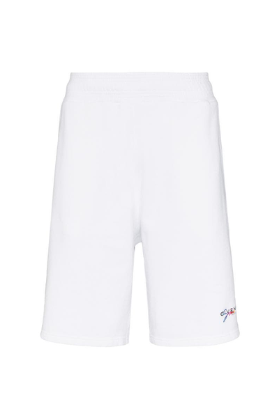 GIVENCHY SIGNATURE RAINBOW SHORTS WHITE