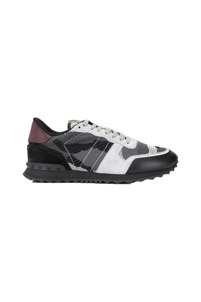 VALENTINO ROCK RUNNER TAINERS IN CAMO GREY
