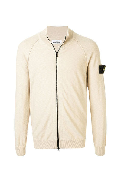 STONE ISLAND - ZIP JUMPER IN WHITE