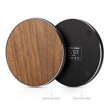 Load image into Gallery viewer, Metal Walnut wireless charger