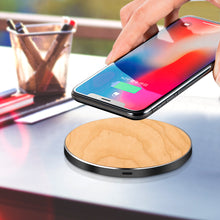 Load image into Gallery viewer, Metal Bamboo wireless charger