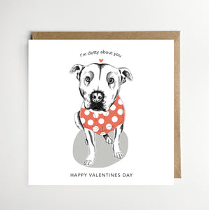 I'm Dotty About You Valentines Card