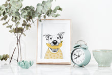 Load image into Gallery viewer, Banana Loving Dog Art Print
