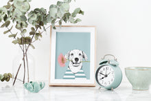 Load image into Gallery viewer, Flower Loving Dog Art Print