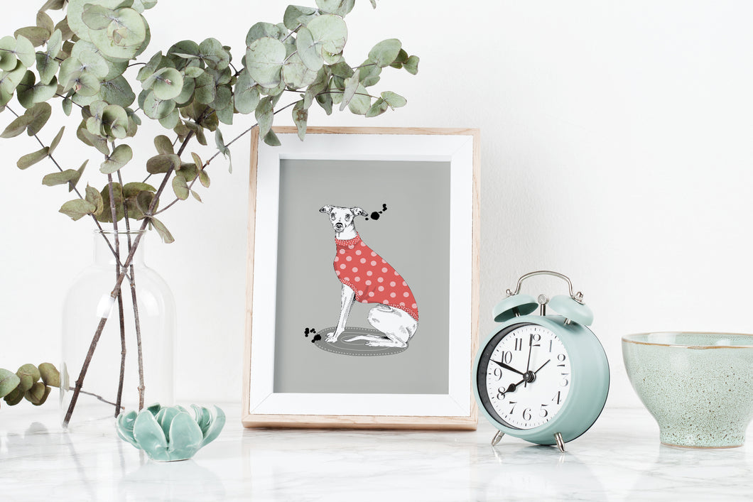 Red Whippet Art Print