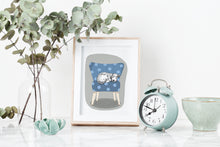 Load image into Gallery viewer, Scruffy Sleeping Dog Art Print
