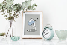 Load image into Gallery viewer, Stripy Whippet Art Print