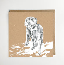 Load image into Gallery viewer, Running Staffy