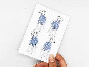 Blue Spotty Whippet Repeat Notebook