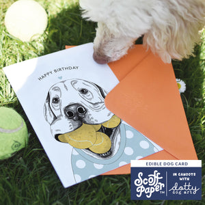 Ball Lover - Edible Dog Card