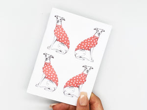 Red Whippet Repeat Notebook