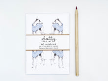 Load image into Gallery viewer, Stripy Whippet Repeat Notebook