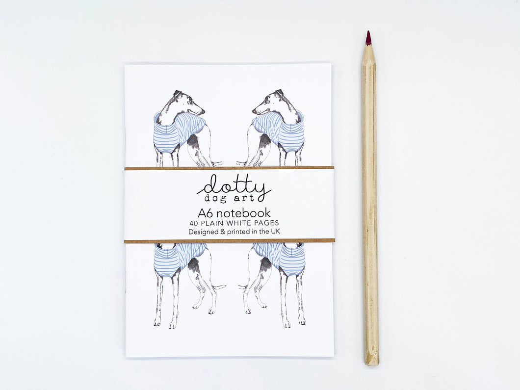 Stripy Whippet Repeat Notebook
