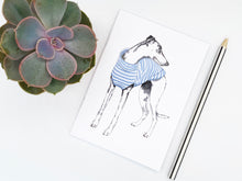 Load image into Gallery viewer, Stripy Whippet Notebook
