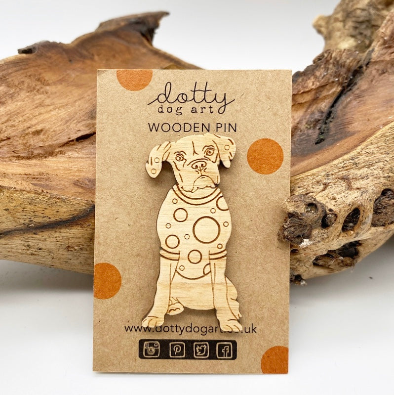 Boxer Dog Pin Brooch