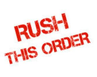 Rush Delivery (Order Total is $500+)