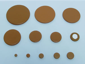 B40M 54-70mm Plain Sax Pads-Imported Felt